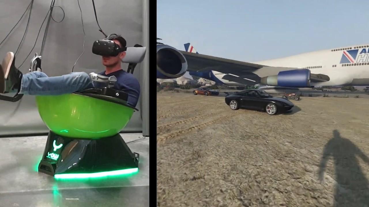 Yaw VR - GTA V. test gameplay - Run, drive, fly... and swim :)