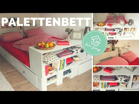 bett aus europaletten palettenm bel upcycling m bel. Black Bedroom Furniture Sets. Home Design Ideas
