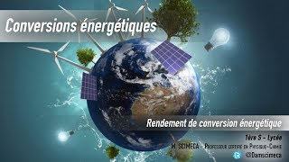 Conversion énergétique - Rendement de conversion