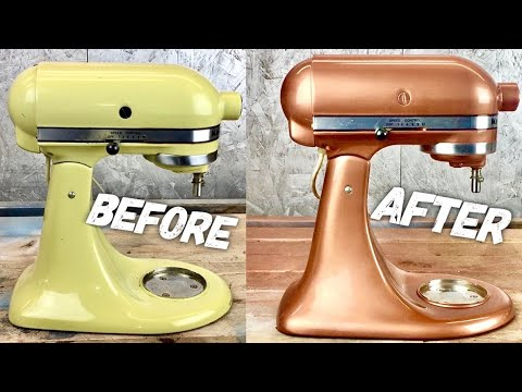 How To Paint A Kitchen Aid : KITCHENAID MIXER MAKEOVER