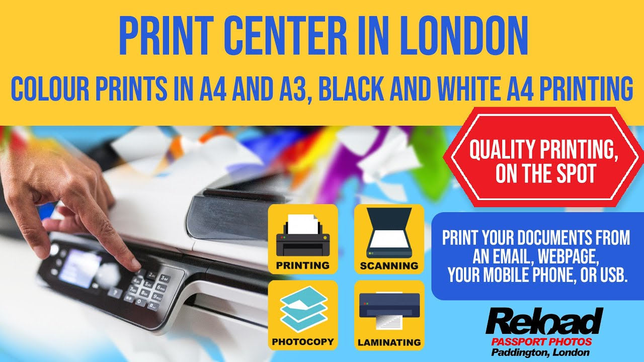 Colour prints in A4 and A3, Black and White A4 Printing - Print Center in  London - YouTube