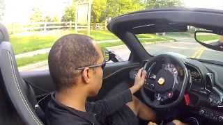 Ferrari 458 Italia Spider drive and review while wearing motorcycle boots! A YouTube FIRST! :) 1-2