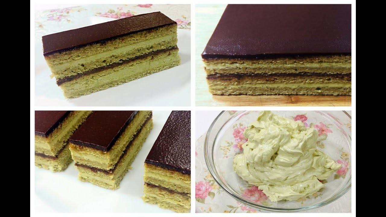 Green Tea Cake Recipe Japanese: GREEN TEA OPERA CAKE RECIPE