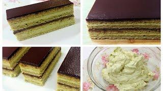 Green Tea Opera Cake Recipe