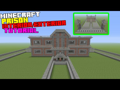 Minecraft Tutorial: How To Make A Prison Interior/Exterior (Inside/Outside)