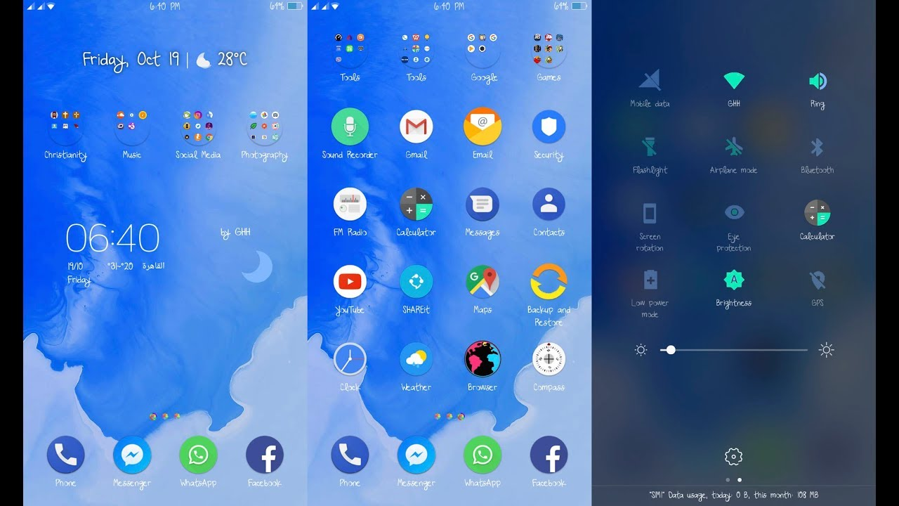 android nougat theme for oppo