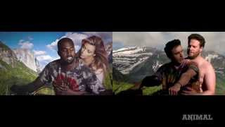 James Franco and Seth Rogen Do Kanye West