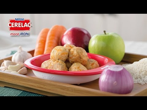 Resipi Makanan Bayi: Bebola Ayam Bersalut CERELAC bersama