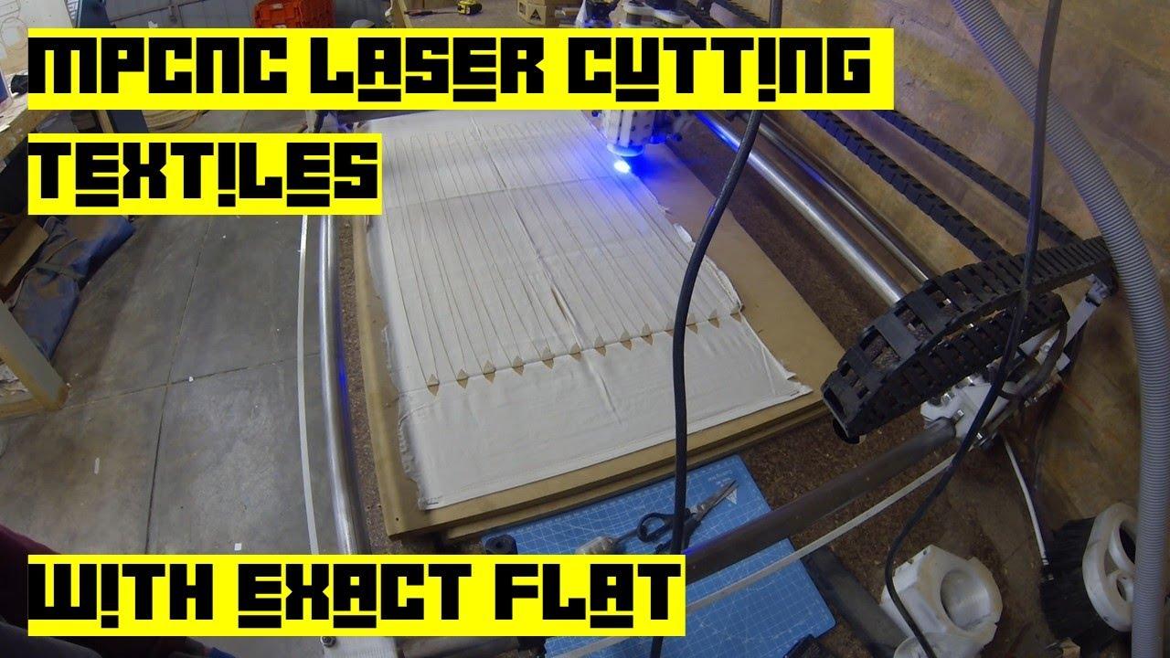 MPCNC LASER CUTTING TEXTILES - EXACT FLAT - FUSION 360