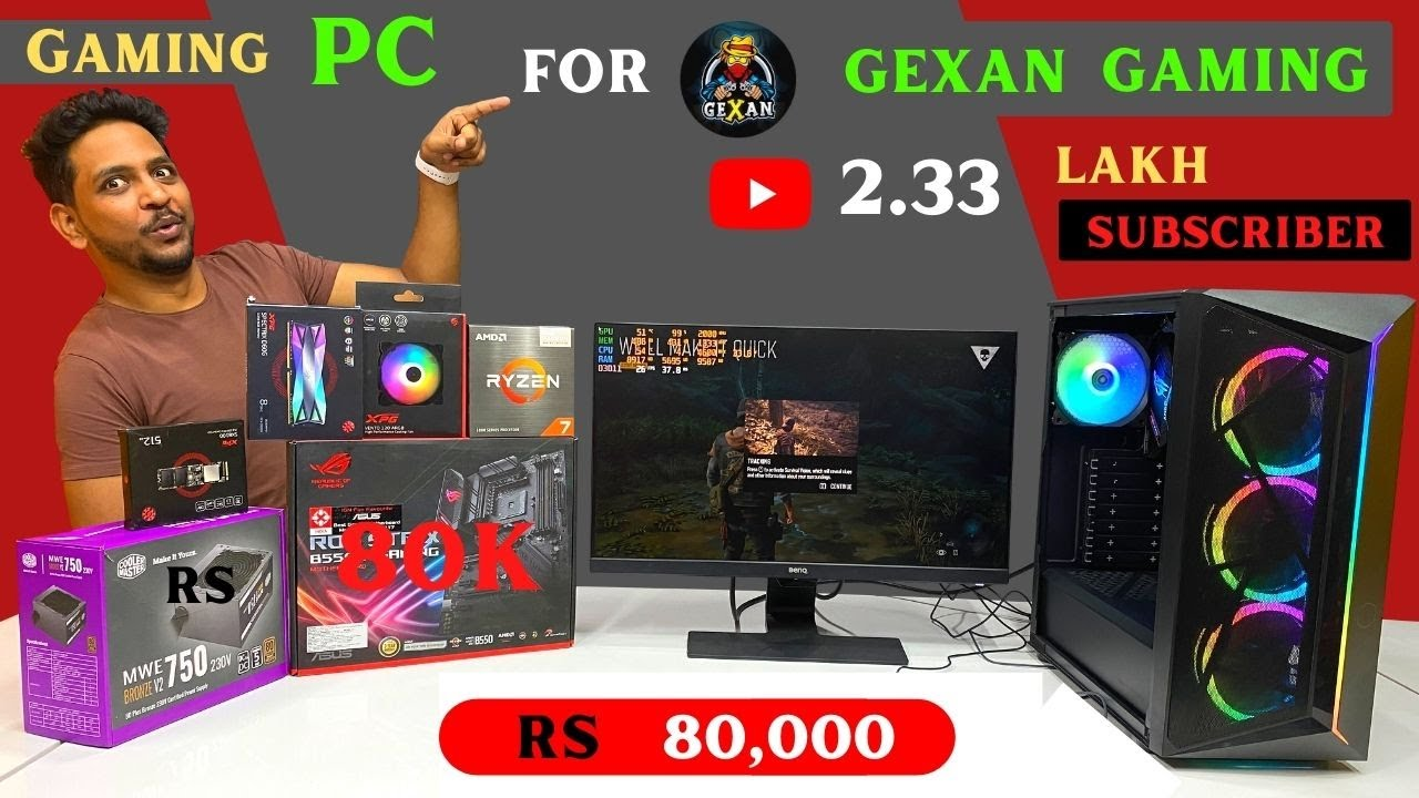 Gaming PC of @Gexan Gaming worth Rs 80K | ROG Strix | Ryzen 7 5700G | 9532777615 | Mr Pc Wale