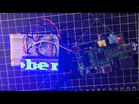 Scrolling text with a Raspberry Pi and LED Matrix | ozzmaker com