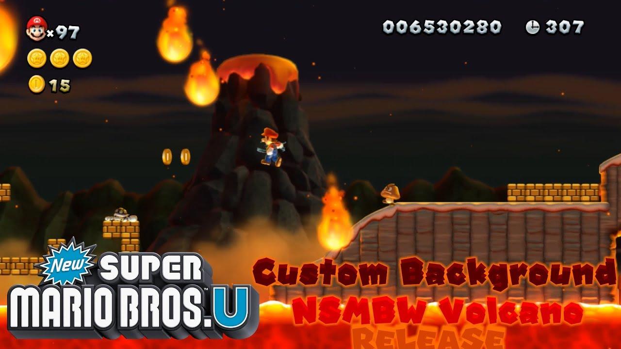 Release Nsmbw Volcano Background In Nsmbu Youtube