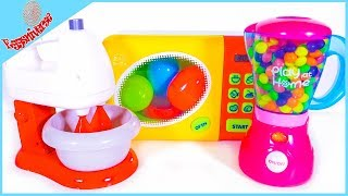 Learn the colors with Mixer Kitchen Playset m&m's candies #learnthecolors #mixerplayset