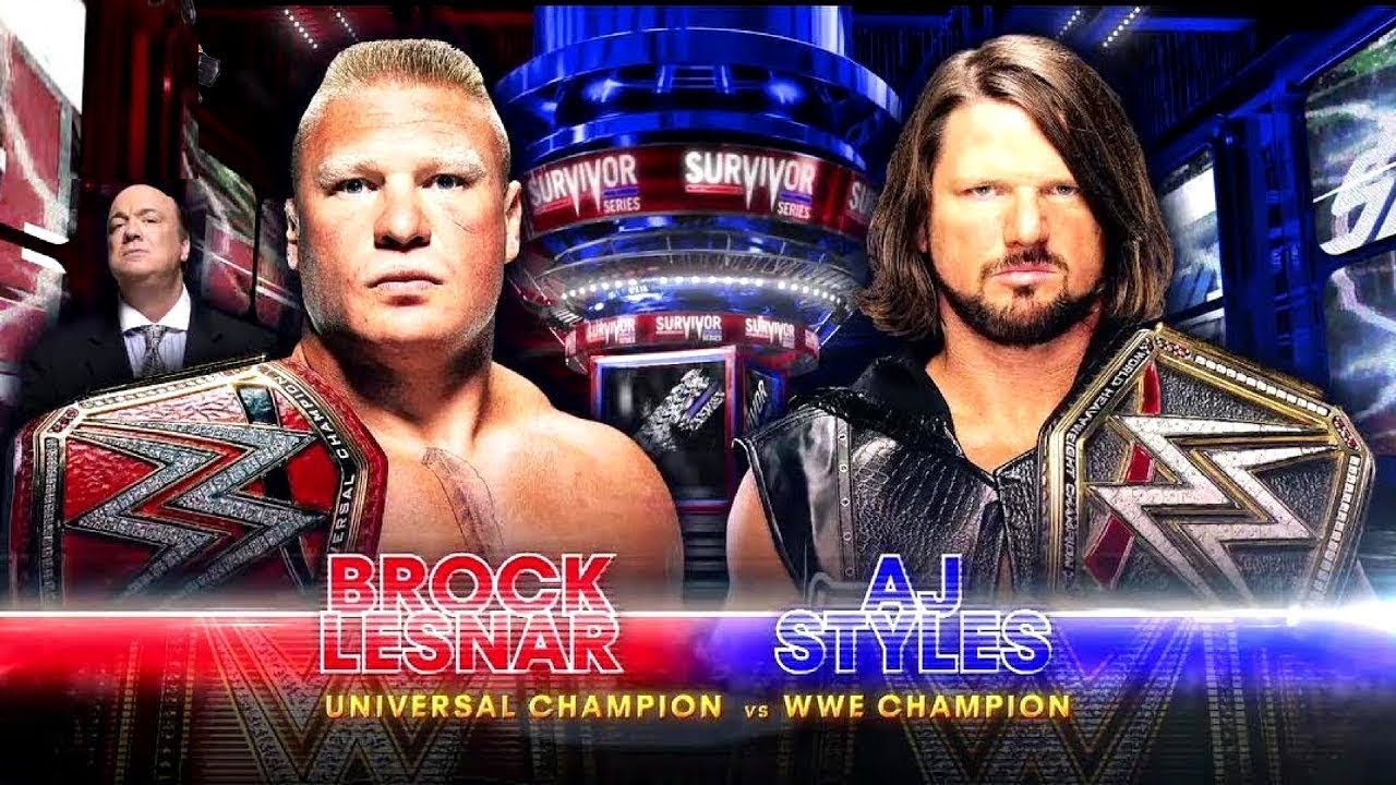 Image result for WWE Survivor Series (2017) WWE UNIVERSAL CHAMPION VS. WWE CHAMPION