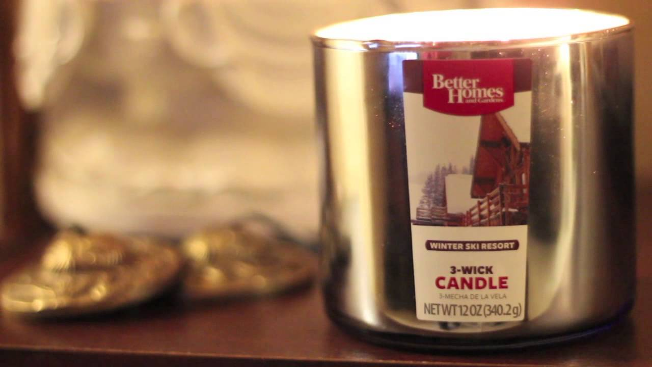 BBW Dupe - Better Homes and Gardens Winter Ski Resort 3-Wick Candle ...