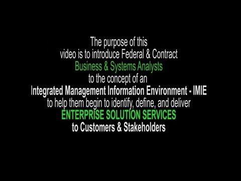 Enterprise Soluton Services for Analysts