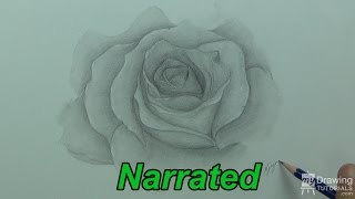 How To Draw A Rose - Drawing Flowers (Narrated)