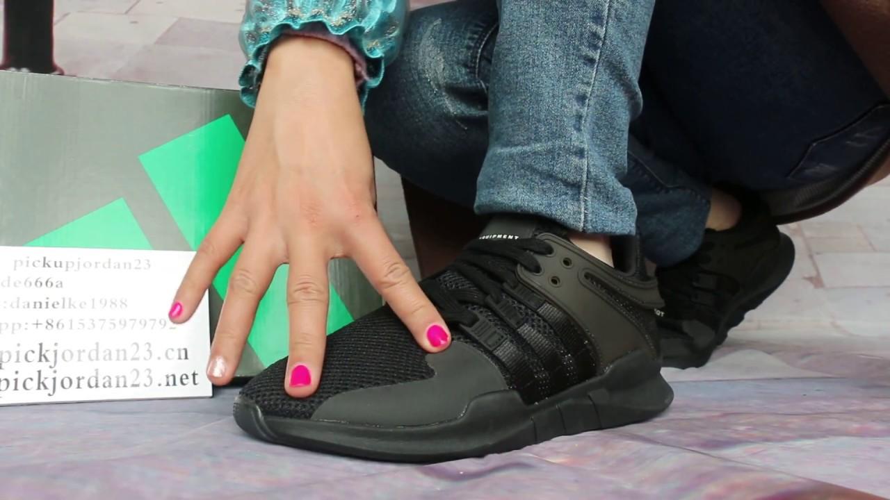 adidas eqt black on feet