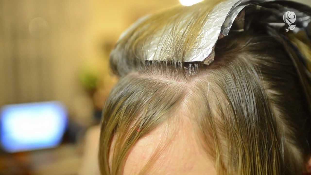 Мелирование волос на себе (щадящее)