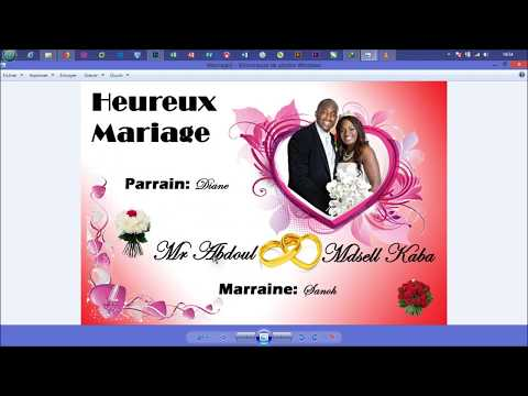 Montage Carte Mariage Photoshop