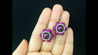 Cute little Beaded Earrings Fast & Easy Tutorial