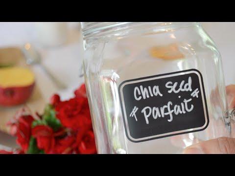 Mango and Granola Chia Seed Parfait