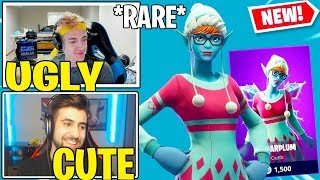 "Streamers React to *NEW* Fortnite ""SUGARPLUM"" Skin!! (CUTE)"
