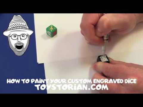 The Toystorian: How To Paint Your Custom Engraved 16mm Dice