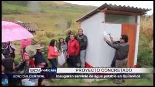 Inauguran servicio de agua potable en caserío de Llaray - Quiruvilca