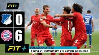 Resumen de Hoffenheim vs Bayern de Múnich 0 6 Bundesliga Fecha 24 2019 20 FÚTBOL