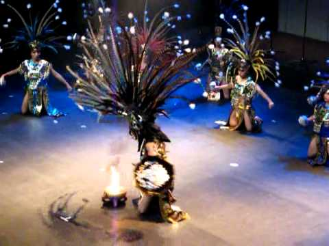 """""""The Fire dance"""" performed by Aztec artists"""
