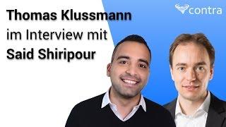 1,4 Millionen€ Umsatz nach 14 Monaten - Thomas Klußmann im Interview mit Said Shiripour