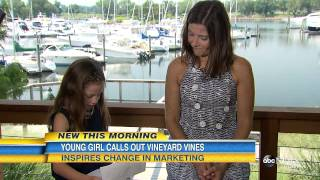 Inspiring Girl Calls Out Vineyard Vines | GMA