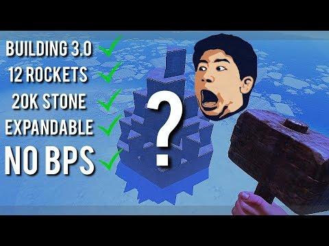 RUSTㆍHow To SURVIVE BUILDING 3.0 w/ NO BP's   12 Rocket / 20K Stone Base