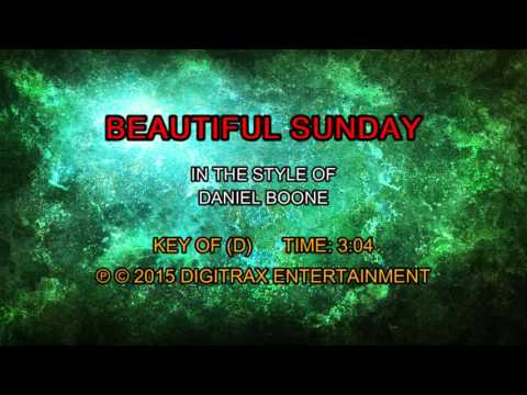 Daniel Boone - Beautiful Sunday (Backing Track)