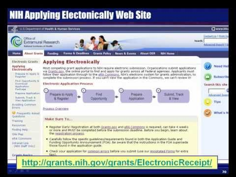Successful Electronic Submission of NIH Grant Applications