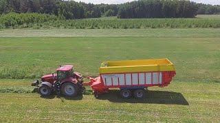 Zbiór traw w GR Pogorzelscy !!! (Steyr, Krone, Case, Pottinger, Deutz)