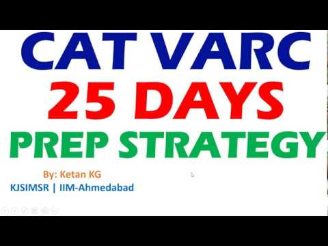 25 days to CAT VERBAL Preparation Strategy and Planning