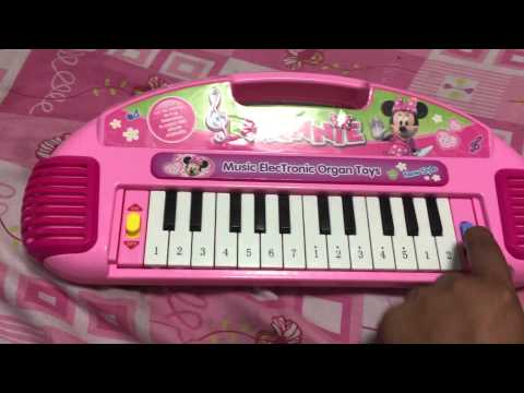 minnie mouse electronic organ