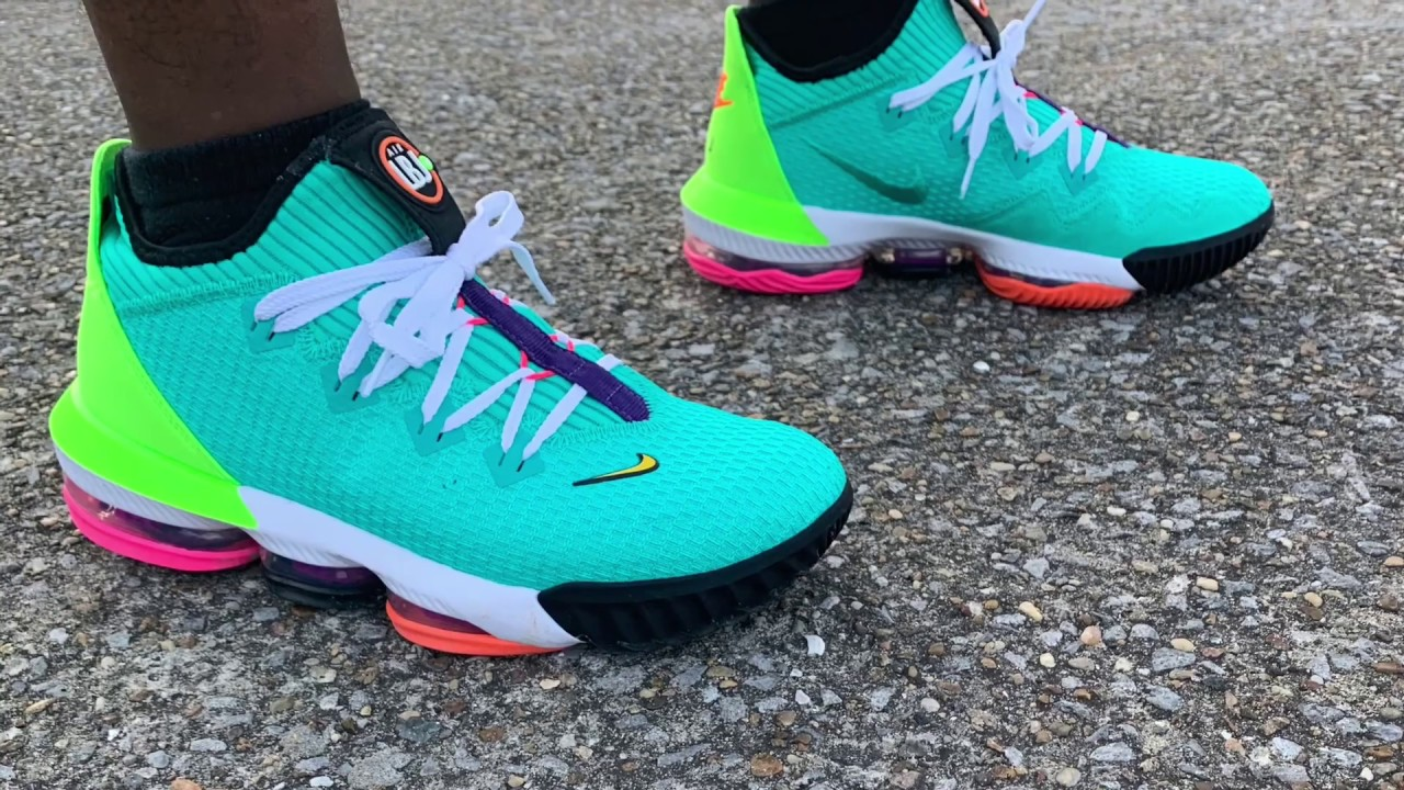 LEBRON 16 LOW AIR MAX ON FOOT - YouTube