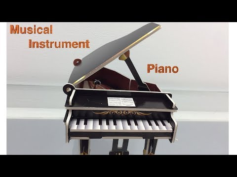 3D Paper Puzzle DIY, How to Assembly the musical instrument Piano