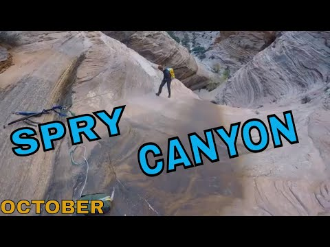Canyoneering Spry Canyon(October), Zion National Park, Utah