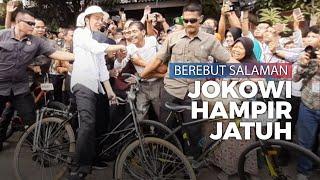 Presiden Jokowi Gowes di Semarang, Sepeda Ontel sampai Oleng dan Hampir Jatuh