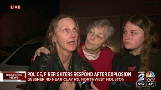 Gambar cover Family describes aftermath of northwest Houston explosion