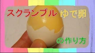 おもしろ科学実験 スクランブルゆで卵をつくろう 【How to make scramble eggs Inside their shell】 thumbnail