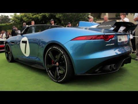 Jaguar Project 7 Concept - Up Close @ Pebble Beach - CAR and DRIVER