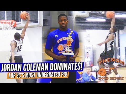 Jordan Coleman is SCs Most UNDERRATED PG ... DOMINATES Long Standing #NCPhenom150 Camp