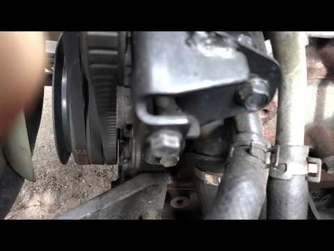 Idler Pulley Noise >> Isuzu NPR belt squeal noise Air conditioner - YouTube