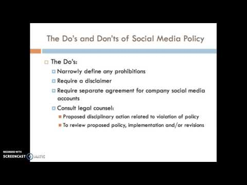 Employer Social Media Policies and the National Labor Relations Act