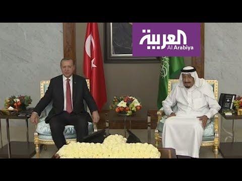 الملك سلمان والرئيس أردوغان يبحثان سبل مكافحة الإرهاب ومصادرِ تمويله  - نشر قبل 2 ساعة